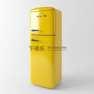 现代电器, 国外模型, 冰箱, 家电