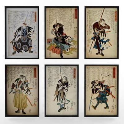 国外模型, 装饰画, 日式