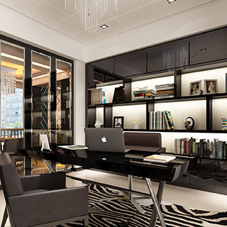现代风格书房