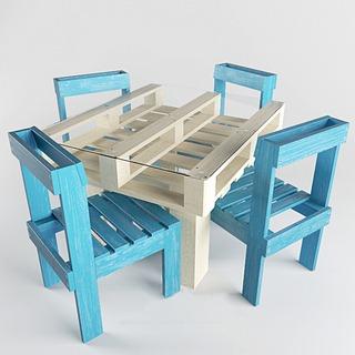 地中海桌椅组合