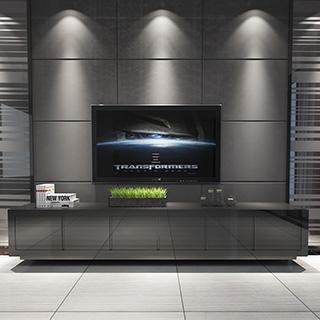 现代电视柜陈设品组合