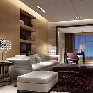 沙发茶几组合,现代简约,客厅,灯,置物柜,陈设品,边几