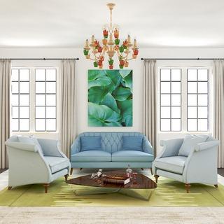 沙发茶几组合,简约,美式,灯,装饰画组合