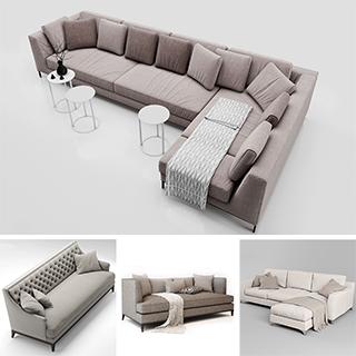 多人沙发,现代简约,模型合集