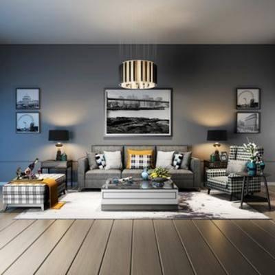 沙发, 沙发茶几组合, 简约, 现代, 茶几