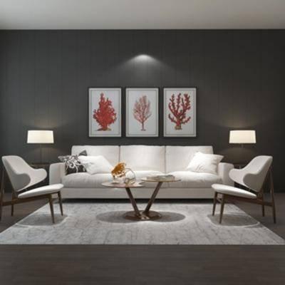 沙发, 沙发茶几组合, 简约, 现代, 组合, 茶几