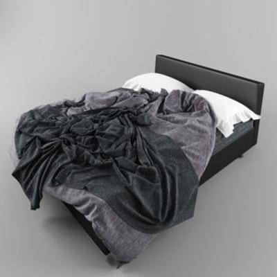 国外模型, 双人床, 现代, 简约, 床