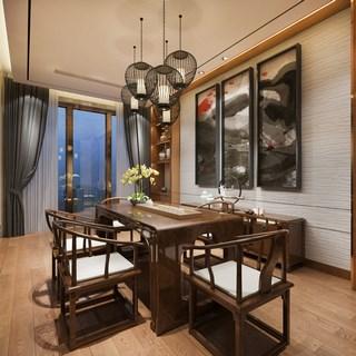 中式,桌椅组合,茶室
