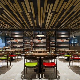 桌椅组合,工业风,现代,餐厅