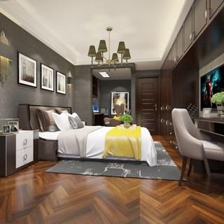 卧室,现代,床具组合