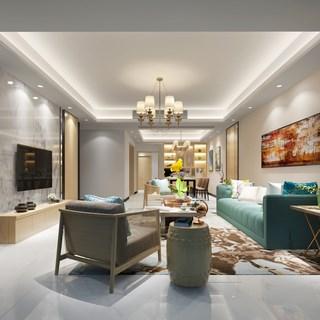 沙发茶几组合,简约,现代,客厅