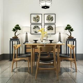 简约,餐桌椅,组合,新中式