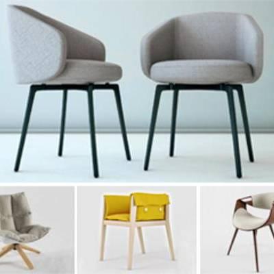 模型合集, 北欧简约, 单人椅, 合集, 现代椅子, 模型