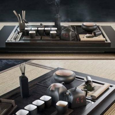 国外模型, 茶具, 组合, 中式, 下得乐3888套模型合辑