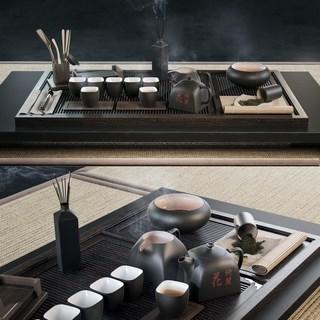 国外模型, 茶具, 组合, 中式