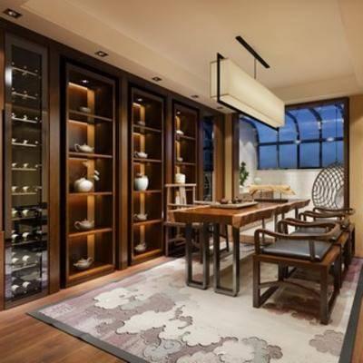 会客, 休闲, 茶室, 中式风格