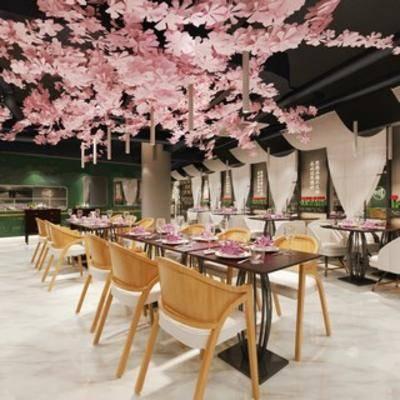餐具, 餐厅, 现代, 桌椅组合