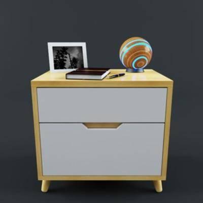 床头柜, 现代, 简约