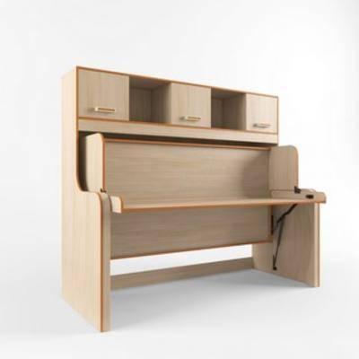 现代, 桌子, 书桌, 木艺
