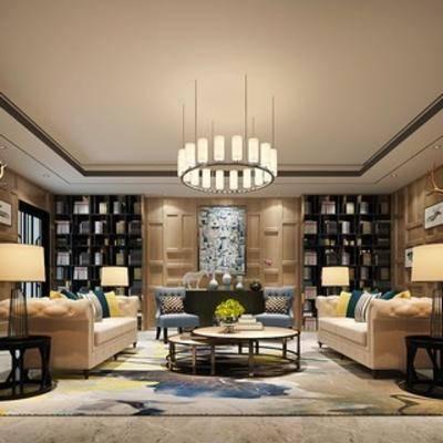 会客室, 风格, 现代, 沙发茶几组合