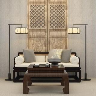 中式沙发茶几组合
