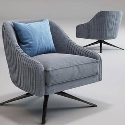 国外模型, 北欧沙发, 现代, 简约, 单人沙发, 沙发