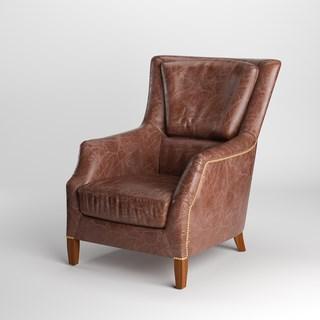 美式皮艺单人沙发