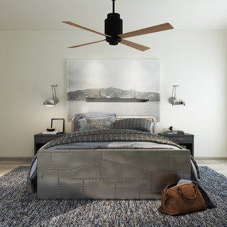北欧工业风双人床床具组合