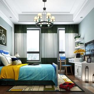 卧室,简约,现代,床头柜,双人床,床具组合