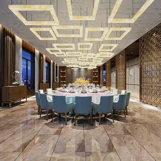 餐桌椅,组合,餐厅,酒店,新中式,餐具