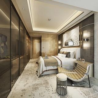 卧室,简约,现代,床头柜,后现代,床具,双人床