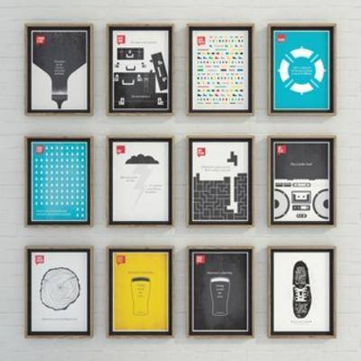 国外模型, 挂画, 装饰画, 现代简约, 现代, 简约