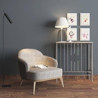 台灯, 简约, 现代简约, 北欧沙发, 组合, 端景台, 北欧, 单人椅