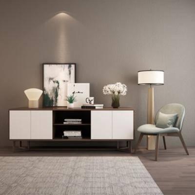 落地灯, 简约, 现代简约, 组合, 电视柜, 陈设品, 北欧, 单人椅