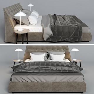现代简约双人床