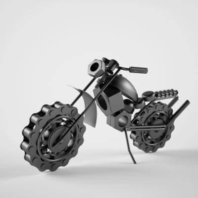手办, 国外模型, 摩托车, 铁艺, 工艺品, 陈设品, 陈列品, 工业风, 模型