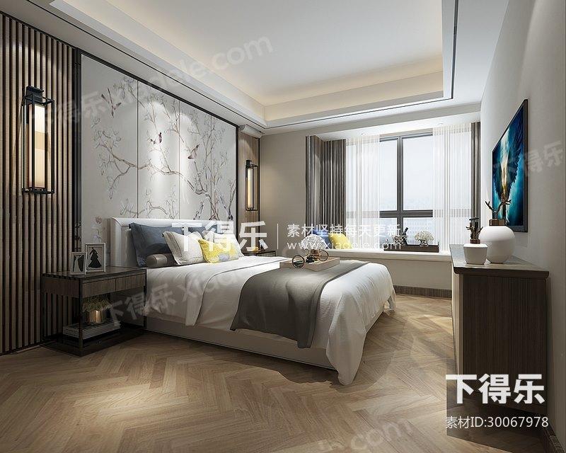 新中式现代卧室