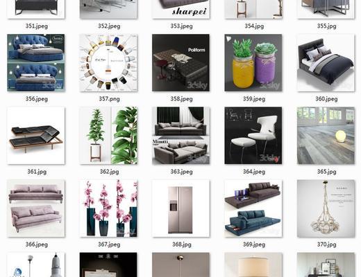 国外模型, 模型合集, 合集, 现代简约, 3dsky