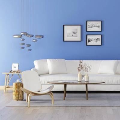 沙发, 沙发茶几组合, 简约, 现代, 现代简约, 茶几