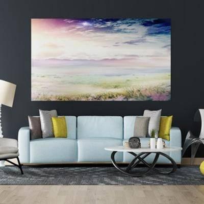 现代沙发, 沙发茶几组合, 简约, 现代, 现代茶几