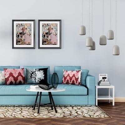 现代沙发, 沙发茶几组合, 简约, 现代, 现代简约, 现代茶几