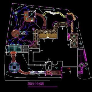 39套别墅庭院私家花园景观设计cad平面图