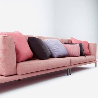 国外模型, 北欧, 北欧沙发, 简约, 多人沙发, 沙发