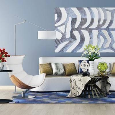 沙发茶几, 简约, 后现代, 现代茶几, 现代沙发组合
