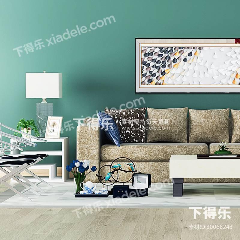 新中式沙发茶几组合,中式