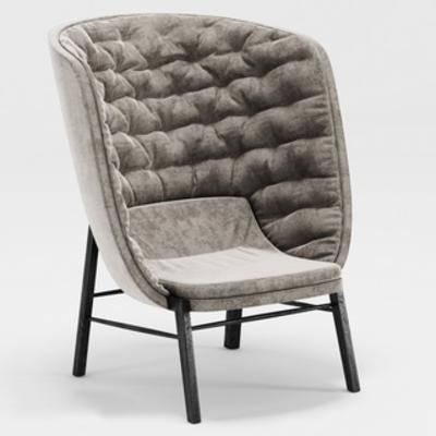 欧式简约, 北欧简约, 欧式沙发, 单人沙发