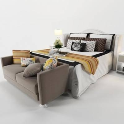 现代床具, 双人床, 现代简约