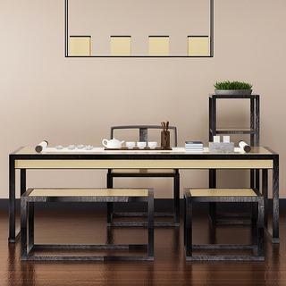 桌椅组合,中式椅子,新中式,中式桌子