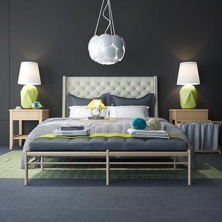 北欧简约双人床床具组合