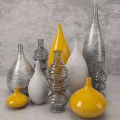 现代陈设品, 现代花瓶, 陈设品, 花瓶, 现代简约